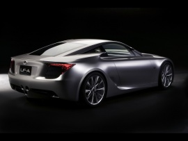 2007 Lexus LF A Sports Car Concept Rear And Side  (click to view)