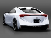 2007 Toyota FT HS Concept Rear Angle Studio