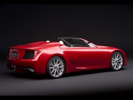 2008 Lexus LF A Roadster Concept Side Rear Angle  (click to view)